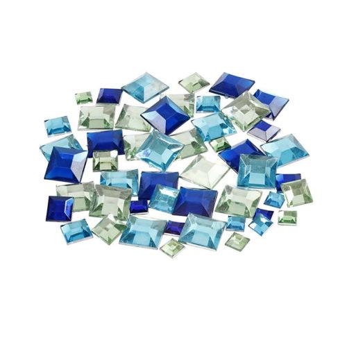 Kristalčki - modri kvadratki
