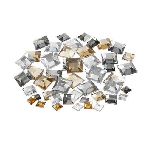 Kristali - srebrni in zlati kvadratki