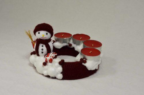 Kvačkan s snežakom - mali (15cm)