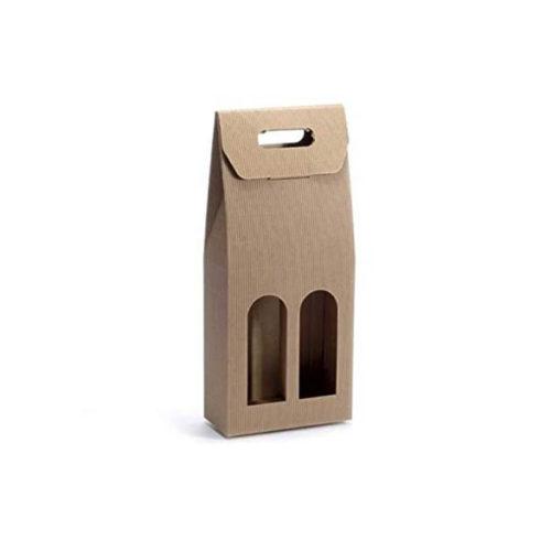 Škatla za dve steklenici iz valovite lepenke