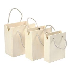 Lesena torbica z ročajem