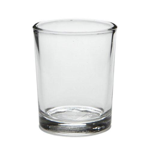 Steklen svečnik za čajne svečke