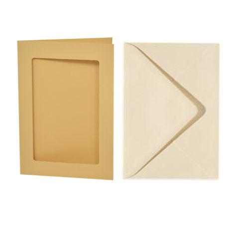 Vizitka s kuverto - pravokotno okno