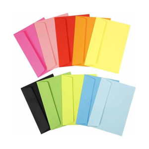 Kuverte v živahnih barvah
