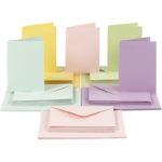 Vizitke s kuvertami - pastel in slikarsko platno